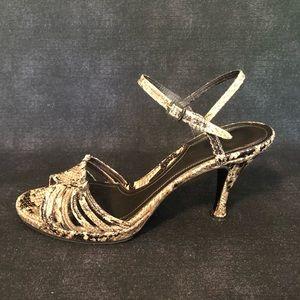 VINTAGE▪️Via Spiga Vero Cuoio Snake Skin Heels